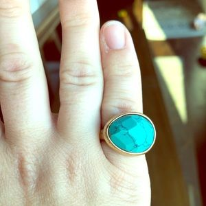 Chloe + Isabel Minaret Faceted Turquoise Ring, Sz7